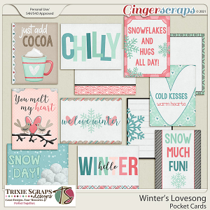Winter's Lovesong Pocket Cards by Trixie Scraps Designs