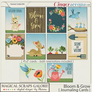 Bloom & Grow (journaling cards)