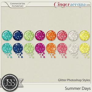 Summer Days Glitter CU Photoshop Styles