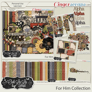For Him Digital Scrapbooking Bundle
