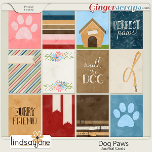Dog Paws Journal Cards by Lindsay Jane