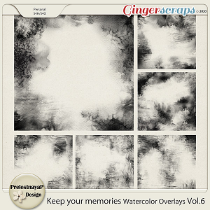 Keep your memories Watercolor Overlays Vol.6