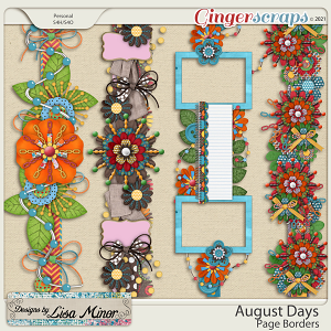 August Days Page Borders from Designs by Lisa Minor