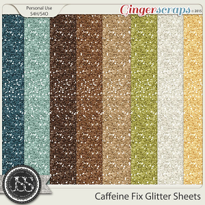 Caffeine Fix Glitter Sheets