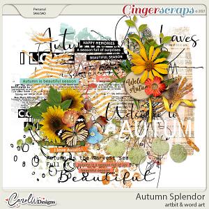 Autumn Splendor-Artbits & word art