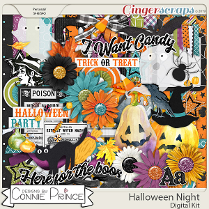Halloween Night - Kit by Connie Prince