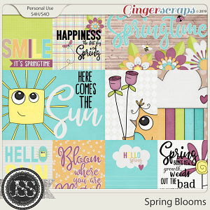 Spring Blooms Pocket Scrapbook Cards