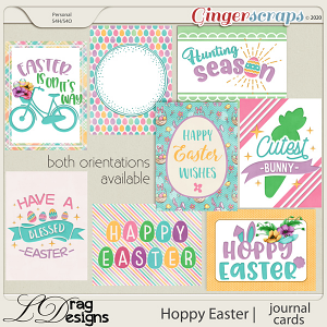 Hoppy Easter: Journal Cards by LDragDesigns