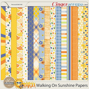 Walking On Sunshine Papers by JoCee Designs