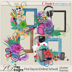 First Day To (Online) School: Cluster Frames by LDragDesigns