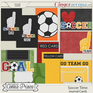 Soccer Time - Journal Cards
