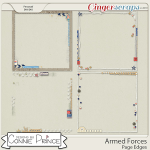 Armed Forces - Page Edges by Connie Prince