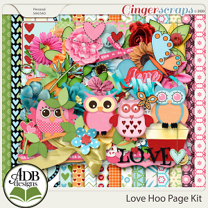 Love Hoo Page Kit by ADB Designs