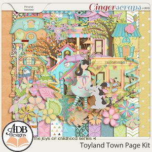Toyland Town Page Kit by ADB Designs