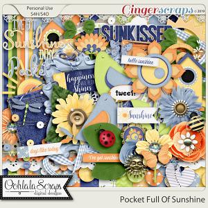 Pocket Full Of Sunshine Digital Scrapbook Kit