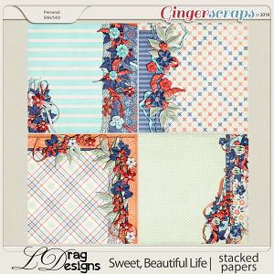 Sweet, Beautiful Life: Stacked Papers by LDragDesigns