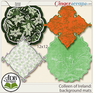 Colleen of Ireland Background Mats by ADB Designs