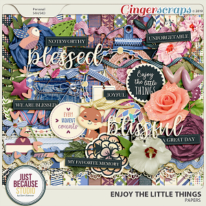 Enjoy The Little Things Page Kit by JB Studio