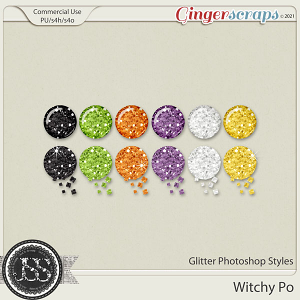 Witchy Poo Glitter CU Photoshop Styles