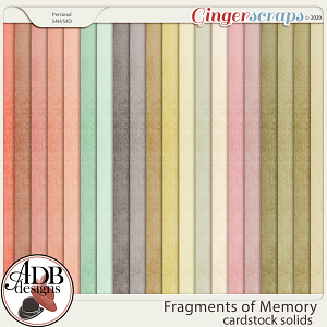 Fragments of Memory Solid Papers by ADB Designs