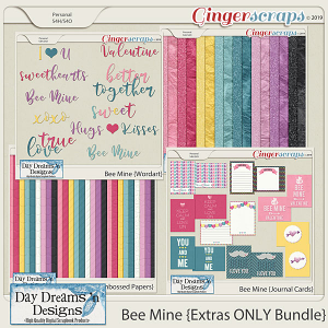 Bee Mine {Extras ONLY Bundle} by Day Dreams 'n Designs