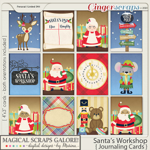 Santa's Workshop (journaling cards)