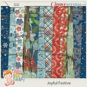 Joyful Festive Wood Papers