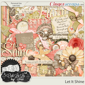 Let It Shine Digital Scrapbooking Kit