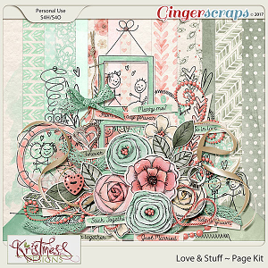Love & Stuff Page Kit