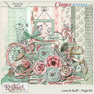 Love & Stuff Page Kit