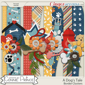 A Dog's Tale - Border Clusters by Connie Prince