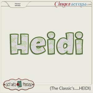The Classics...Heidi Alpha by Scraps N Pieces