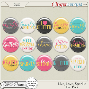 Live, Love, Sparkle - Flair Pack
