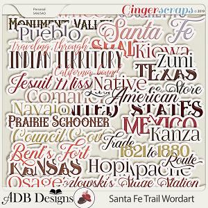 Santa Fe Trail Word Art by ADB Designs