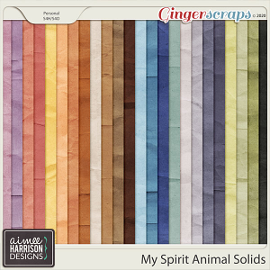 My Spirit Animal Solid Papers by Aimee Harrison