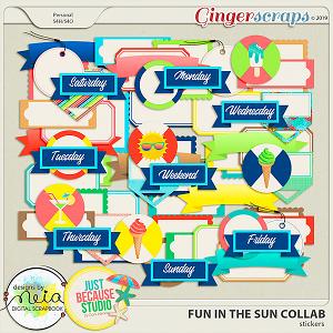 Fun In The Sun Stickers by JB Studio and Neia Scraps