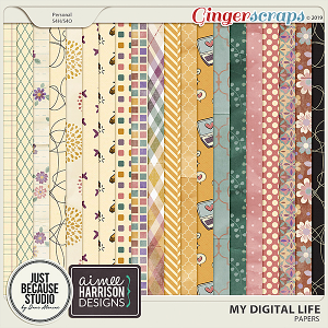 My Digital Life Papers by JB Studio and Aimee Harrison Designs