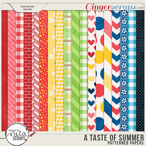 A Taste of Summer - Patterned Papers - by Neia Scraps