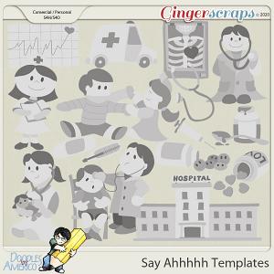 Doodles By Americo: Say Ahhhhh Templates