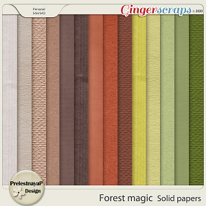 Forest magic Solid papers