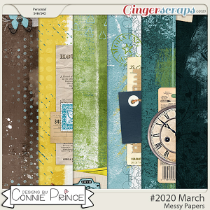 #2020 March - Messy Papers by Connie Prince