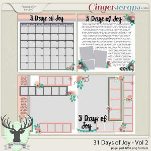 31 Days of Joy Volume 2
