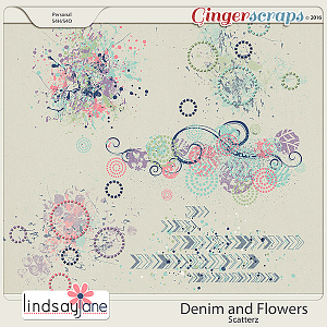 Denim and Flowers Scatterz by Lindsay Jane