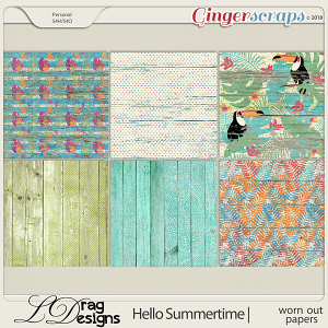 Hello Summertime: Worn Out Papers by LDragDesigns
