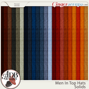 Men in Top Hats Solid Papers by ADB Designs