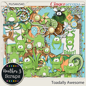 Toadally Awesome KIT by Heather Z Scraps