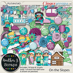 On the Slopes ELEMENTS by Heather Z Scraps
