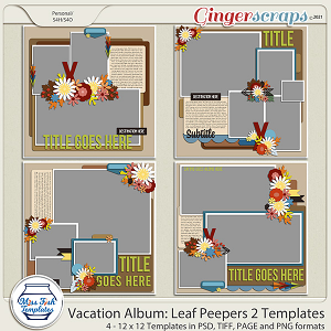 Vacation Album: Leaf Peepers 2 Templates by Miss Fish
