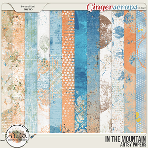 In The Mountain - Artsy Papers - by Neia Scrap