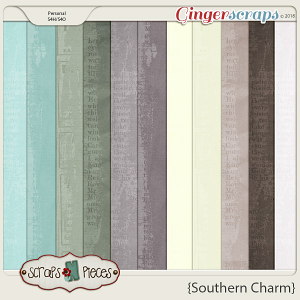 Southern Charm Cardstocks by Scraps N Pieces